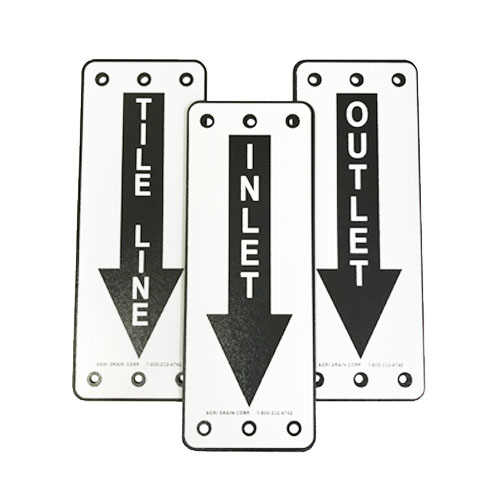 Tile Marker Signs