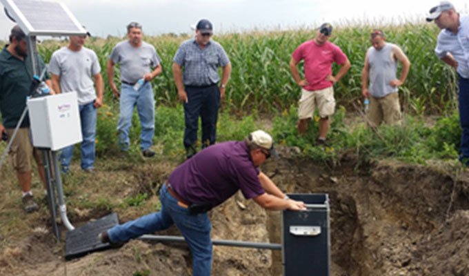 Drainage Water Management Field Day in Elkton, MI.